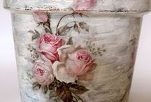 Decoupage / #Decoupage technique, to renovate and decorate objects of all kinds.