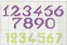 Čísla - x steh