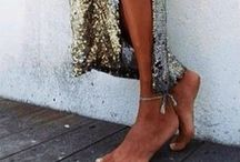 Going Out Attire / Sequinned maxis with Ts, dresses with converse. Balance It