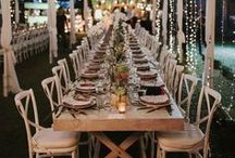 Reception Decor / The big board of centerpieces, table settings, and decoration ideas to celebrate the holy matrimony