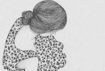 lovely illustrations & quotes / Ilustraciones bonitas que transmiten...