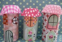 paper crafts / paper rolls, plates etc.