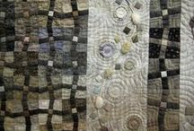 Modern quilts - earth colors / For cosy autumn and winter evenings.