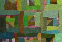 Modern quilts -green