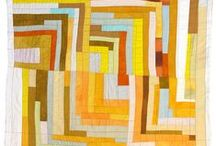 Modern quilts - sunny colors
