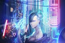 Cyberpunk / Futuristic Cityscape