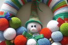 Haken kransen / Wreath crochet