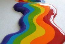 Rainbow colour explosion