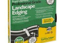 "Garden Edging & Designs / Edging & Design: Edging is used to compliment your gardens and separate the garden from the lawn to aid in mowing - Also see ""Garden Boards & Designs"" and ""Dry River Bed Ideas"" / by Christine Sinclair"