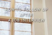 After the Interview / What to do now? How to follow up? Send thank you. / by Meredith College OCP