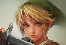 Link Artworks / Don't mistake him for Zelda, he's sensitive.