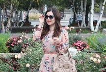 Fall sunnies with Jenny Jovanovic / I was also instantly drawn to the unique two-toned blue/brown frames (Michael Kors) https://www.crazystylelove.com/2015/10/fall-sunnies/ / by IRIS Optometrists Opticians