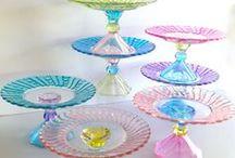 Glass Vases & Mirrors