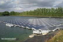 Sheeplands Farm 200kW Hydrelio Floating Solar PV - Berkshire / The UK's first ever Hydrelio Floating Solar PV instalaltion was installed by The Greener Group at Sheeplands Farm in Berkshire during August 2014. This 200kW installation on their new resevoir will power the reservoir's pump. http://www.thegreenergroup.com/commercial-solar-pv-installations/sheeplands-farm-200kw-hydrelio-reading