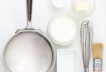 Préparations de base. Cuisine et pâtisserie / Bases culinaires pour préparations sucrées ou salées;  pâtes, crèmes, farines, levains,  sucres et sirops parfumés ... / by Ma Ma