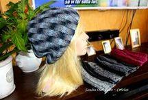 Gorro Slouchy -  Crochet / La tecnica usada en este gorro a crochet da la impresion de que es tejido a dosAgujas.