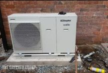 9kW Domestic Air Source Heat Pump / A 9kW Air Source Heat Pump was installed for a domestic customer so they could benefit from a green, renewable heating solution.