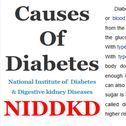 Causes of Diabetes / Diabetes is a disease in which your blood glucose, or blood sugar, levels are too high. Glucose comes from the foods you eat. Insulin is a hormone that helps the glucose get into your cells to give them energy. With type 1 diabetes, your body does not make insulin. With type 2 diabetes, the more common type, your body does not make or use insulin well. Without enough insulin, the glucose stays in your blood.