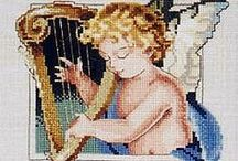 Angels & Cherubs in Cross Stitch & Embroidery