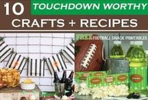Football anyone? / Check back throughout the season for more tips, tricks, recipes, crafts & more football related item we'll be sharing!
