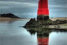 Lighthouses and ships
