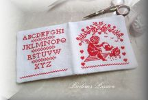 Needle Case, Scissor Keep or Pin Keep in Cross Stitch or Embroidery and Other Small Items + patterns & charts.