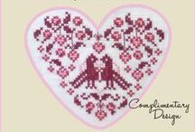 Valentine and Love Cross Stitch Freebies