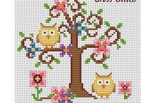 Owls - Cross Stitch Freebies