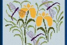 Butterflies, Moths, Dragonflies and Bees in Cross Stitch Freebies