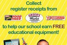 APPLES FOR THE STUDENTS! / SAVE YOUR GREER'S CASH REGISTER RECEIPTS TO EARN FREE EDUCATIONAL EQUIPMENT & SUPPLIES!  IS YOUR FAVORITE SCHOOL REGISTERED?