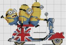 Cartoons - Minions, Cross Stitch Freebies