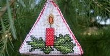 Christmas Cross Stitch Tree Decorations - Freebies