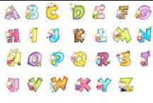 Abecedarios, letras y números