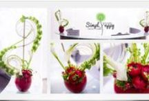 Corporate Floral Art / Creative floral designs for reception desks and business interiors