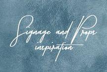 Signage + Props Inspiration // Stimuli Couture Design