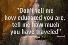 Thoughtful Travel Quotes & Inspiration / A collection of travel quotes and inspiring images about travelling