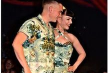 His and hers vintage matching outfits / Matching outfits by Di Brooks of OuterLimitz - some Hawaiian!