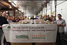 Growing Forward™ with Feeding America® / Together we can solve hunger! Growing Forward with Feeding America is committed to helping get more fresh fruits and veggies into Feeding America member food banks nationwide.