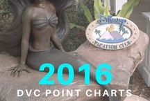 DVC Point Charts for 2016 / Point charts for all Disney Vacation Club resort for the year 2016