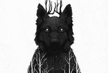 Wolf: Dark Hero / Wolf, practitioner of the dark arts and The Arts Old, a player in the Lovesport, the true love of Ellipsis, and officially 1.5 people according to his MoreCorp metrics.