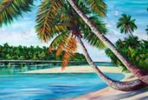 Jéanne Humphreys Fine Art / Jéanne's art works, prints & cards can be purchased at outlets in Rarotonga, Atiu & Aitutaki, Cook Islands, TAV clothing stores & online at Fine Art America.