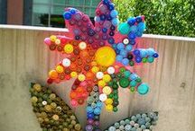 Eco Art projects / Reclaiming and salvaging materials...then making them into something great!
