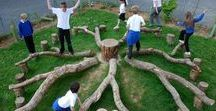 Outdoor Natural Play Space / Thoughtful attention to the outdoor learning environment is as important as the indoor environment. Many simple changes can be made to engage children in a wide range of play opportunities that are not possible indoors, or with just a metal play structure!