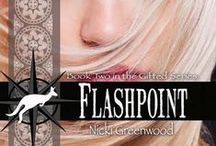 FLASHPOINT by Nicki Greenwood / Faith Markham has it all - almost: beauty, paranormal power, and the job of her dreams as an archaeologist. The one thing eluding her is a love that will transcend time. Too bad that when she hires Hakon Ivarsson, the tough-talking trail guide has absolutely no plans to let her tie him down. Visit http://www.nickigreenwood.com/books/excerpts/flashpoint.html & related boards AUSTRALIA and ARCHAEOLOGY for more!