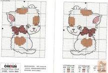 cross stitch animaletti