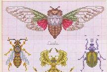 cross-stitch insetti