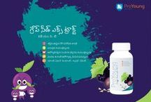 Grape Seed Extract With MCT -  Telugu / Grape Seed Extract is a powerful antioxidant Crosses blood brain barrier easily making it as an ideal for brain in preventing cognitive (memory) loss especially in various life style chronic neuro degenerative diseases.