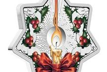 Christmas Coins & Decorations / Add some sparkle to your Christmas with these beautiful decorations.
