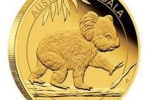 Australian Koala Coins / Gold and silver coins depicting Australia's cuddliest marsupial.