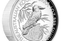 Australian Kookaburra Coins / Gold and silver coins featuring wonderful portrayals of Australia's iconic bush bird.